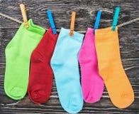 Пестротканая ткань socks смертная казнь через повешение Стоковая Фотография RF