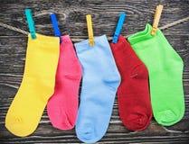 Пестротканая ткань socks смертная казнь через повешение Стоковое фото RF