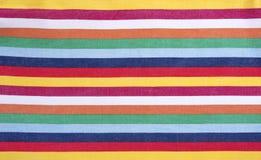 Пестротканая striped ткань Стоковая Фотография