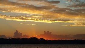 Пестротканое зарево захода солнца Стоковые Изображения RF