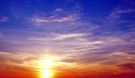 Пестротканое небо Стоковое Изображение