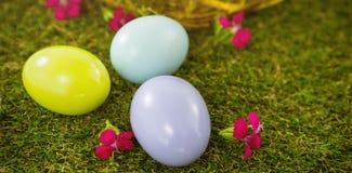 Пестротканое пасхальное яйцо на траве Стоковое Фото
