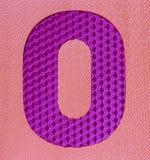 Пестротканое резиновое число нул номеров Стоковая Фотография