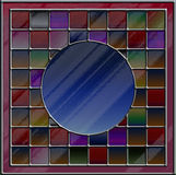Пестротканое цветное стекло с пустым copyspace иллюстрация вектора