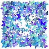 Пестротканые бабочки летания на белой предпосылке Изолированный предмет Дизайн предпосылки бабочек вектора Жулик Colorfull EPS 10 Стоковые Фото