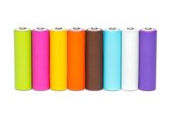 Пестротканые батареи Стоковые Изображения