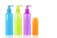 Пестротканые бутылки лосьона Стоковое Изображение RF