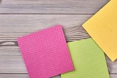 Пестротканые ветоши салфетки чистки кухни Стоковое Фото