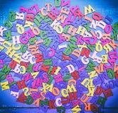 Пестротканые деревянные письма Стоковые Изображения RF