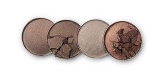Пестротканые задавленные тени для век для состава как образец косметического продукта Стоковая Фотография RF