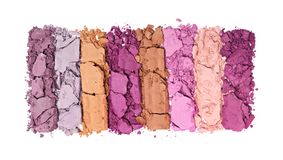 Пестротканые задавленные тени для век для состава как образец косметического продукта Стоковые Изображения