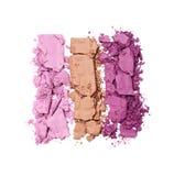 Пестротканые задавленные тени для век для состава как образец косметического продукта Стоковое Фото