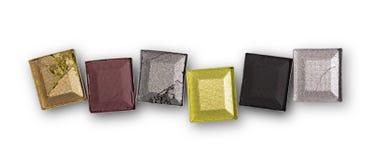 Пестротканые задавленные тени для век для состава как образец косметического продукта Стоковое Изображение