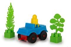 Пестротканые игрушки пластмассы Стоковое фото RF