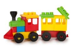 Пестротканые игрушки пластмассы Стоковое Фото