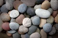 Пестротканые камешки на seashore для bacground Стоковые Фотографии RF