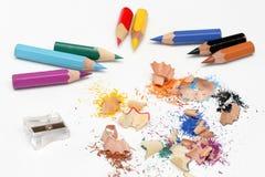пестротканые карандаши Стоковая Фотография