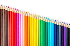 Пестротканые карандаши Стоковое Фото