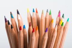 Пестротканые карандаши Стоковая Фотография RF