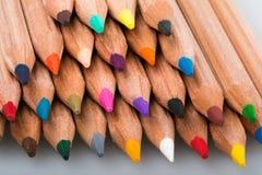 Пестротканые карандаши Стоковое Изображение