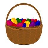 Пестротканые красочные яичка для счастливой пасхи Стоковые Изображения RF