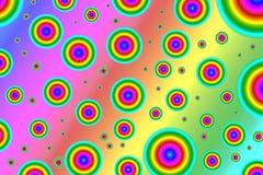 Пестротканые круги на предпосылке градиента, влиянии радуги Стоковое Изображение RF