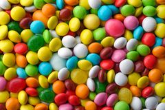 Пестротканые круглые конфеты Стоковые Изображения