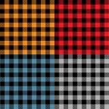 Пестротканые образцы шотландки Стоковое фото RF