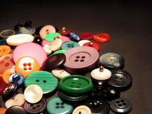 Пестротканые ретро кнопки Стоковые Изображения RF