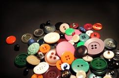 Пестротканые ретро кнопки Стоковые Фотографии RF