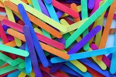 Пестротканые ручки мороженого Стоковые Фото