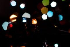 Пестротканые света гирлянды Новых Годов Стоковое фото RF
