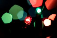 Пестротканые света гирлянды Новых Годов Стоковое Изображение RF