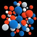 Пестротканые сферы Стоковое фото RF