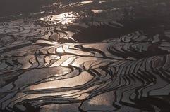 Пестротканые террасы Стоковая Фотография RF