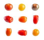 Пестротканые томаты вишни Стоковое Фото