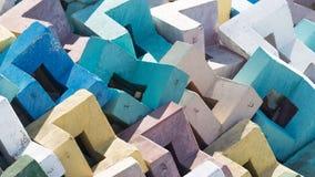 Пестротканые усиленные бетонные плиты Стоковые Фото