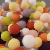 Пестротканые шарики, абстрактная предпосылка иллюстрация штока