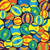 Пестротканые шарики безшовной картины Стоковая Фотография