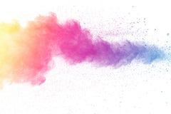 Пестротканый взрыв порошка Стоковая Фотография