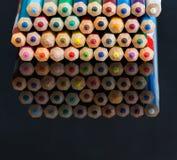 Пестротканый деревянный crayon Стоковые Изображения