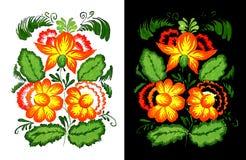 Пестротканый орнамент цветка Стоковое Изображение RF