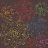Пестротканый флористический орнамент простой Стоковая Фотография