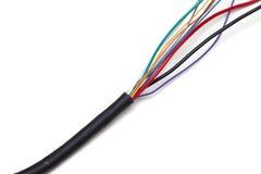 Электрический кабель на белой предпосылке стоковое изображение rf