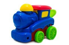 Пестротканый яркий пластичный локомотив пара игрушки Стоковое Фото