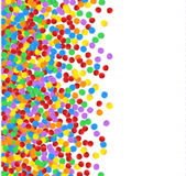 Пестротканый confetti Праздничный декоративный элемент для поздравительных открыток, знамен Стоковая Фотография