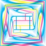 Пестротканым произведенная компьютером спиральная предпосылка фрактали Стоковые Изображения
