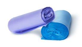 2 пестротканых крена пластичных сумок отброса Стоковые Изображения