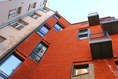 2 пестротканых дома, городская архитектура Стоковые Изображения RF