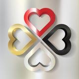 4 пестротканых рамки сердца бесплатная иллюстрация